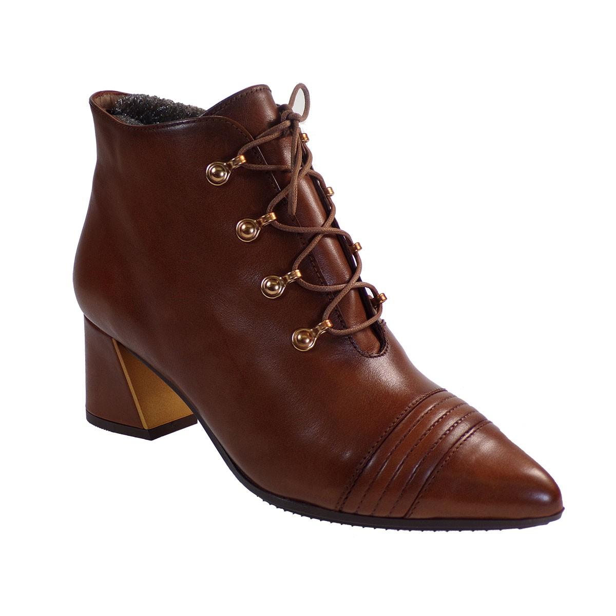 Hispanitas Γυναικεία Παπούτσια Mποτάκια HI00757 Ταμπά Δέρμα