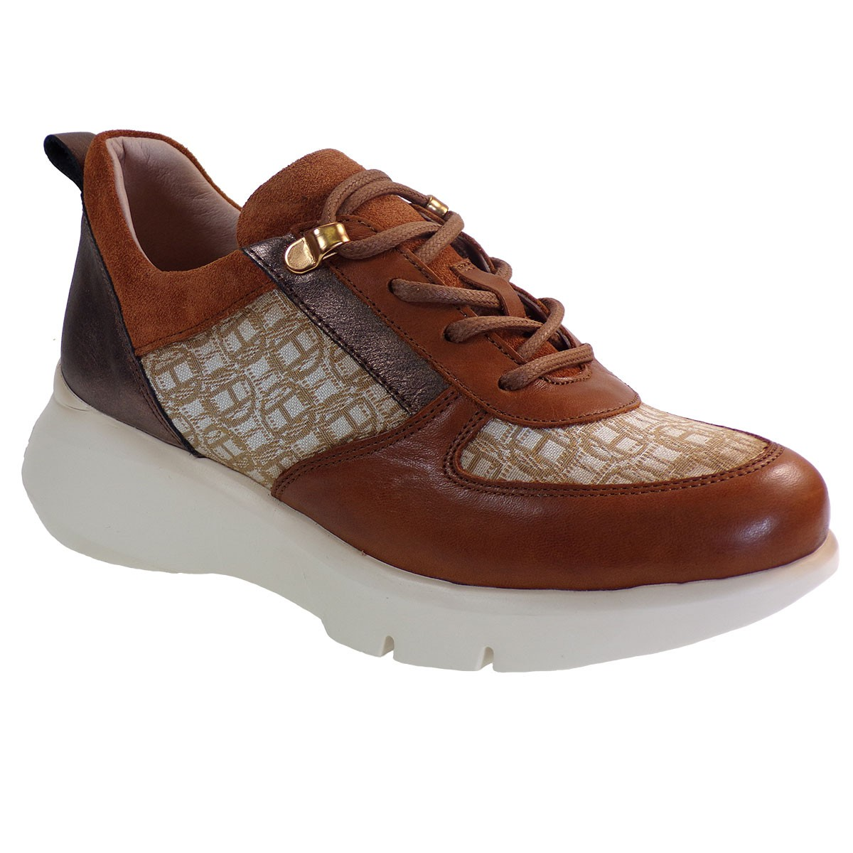 Hispanitas Γυναικεία Sneakers Αθλητικό HI00603 Ταμπά Δέρμα