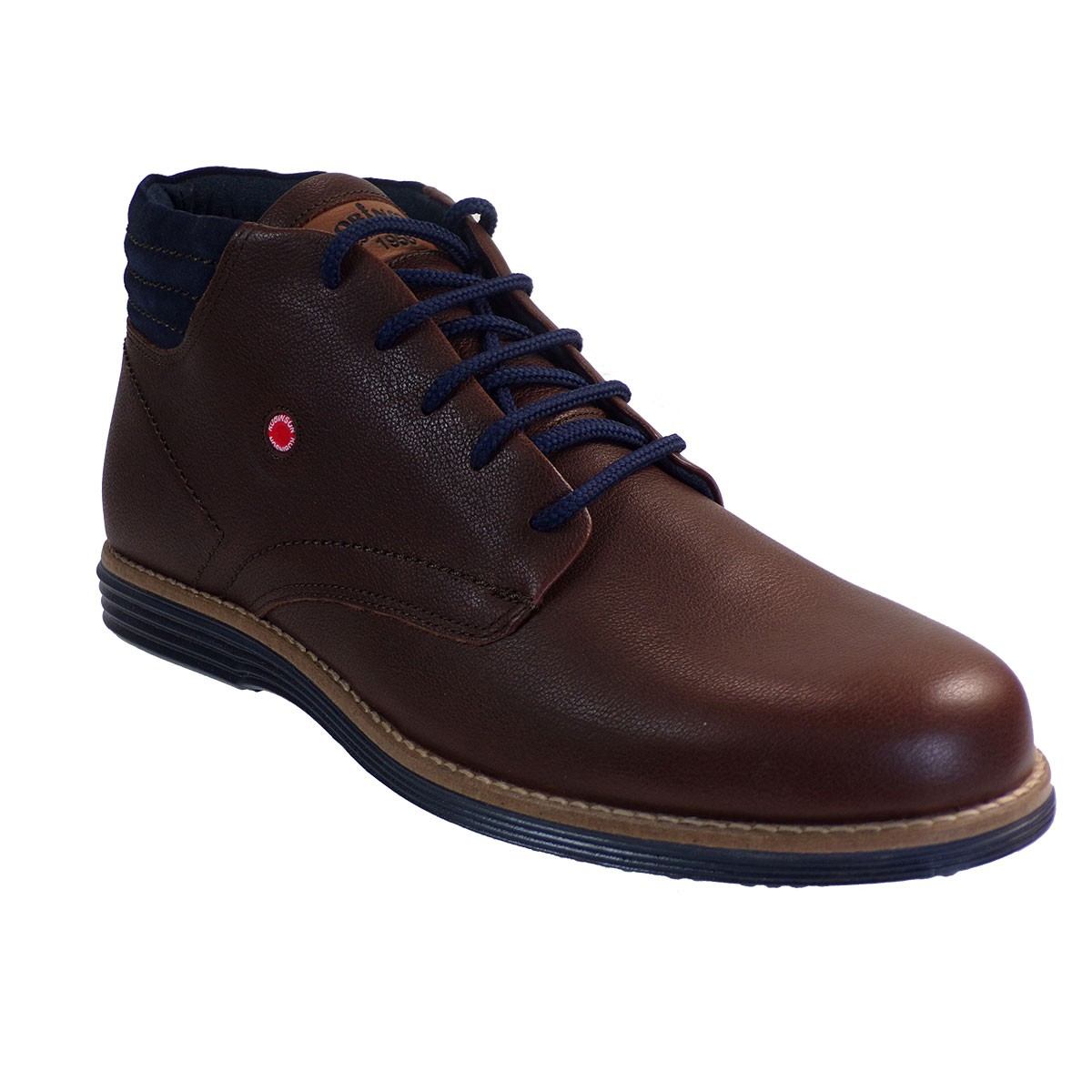 Robinson Ανδρικά Παπούτσια Μποτάκια 2091 Καφέ Δέρμα