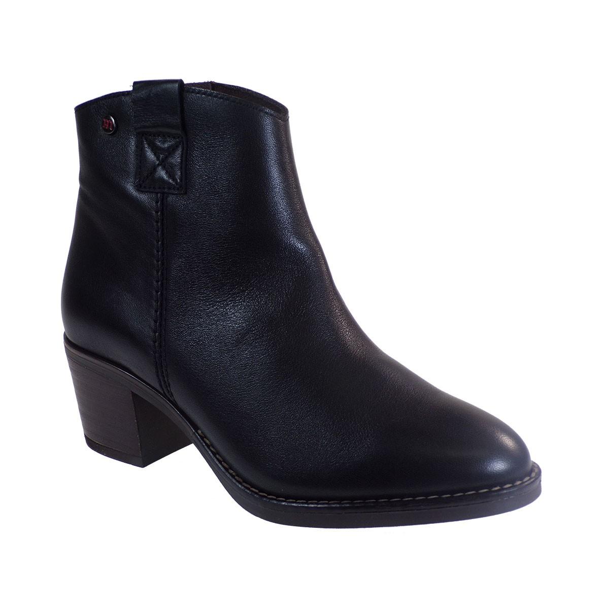 PEPE MENARGUES SHOES Γυναικεία Παπούτσια Μποτάκια 20340 Μαύρο Δέρμα