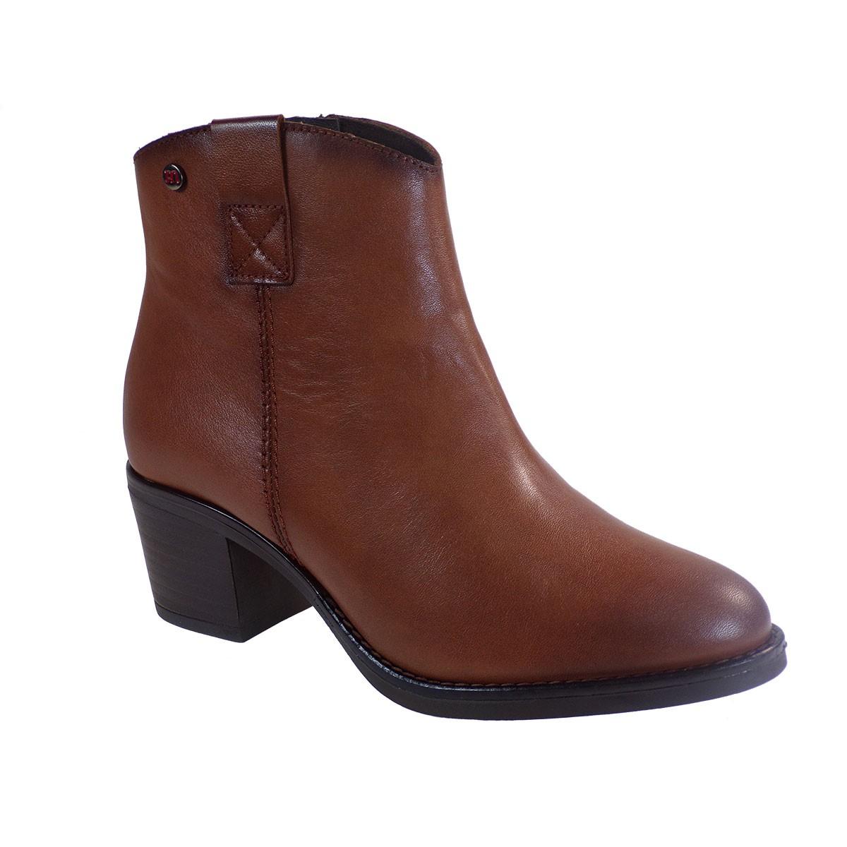 PEPE MENARGUES SHOES Γυναικεία Παπούτσια Μποτάκια 20340 Ταμπά Δέρμα