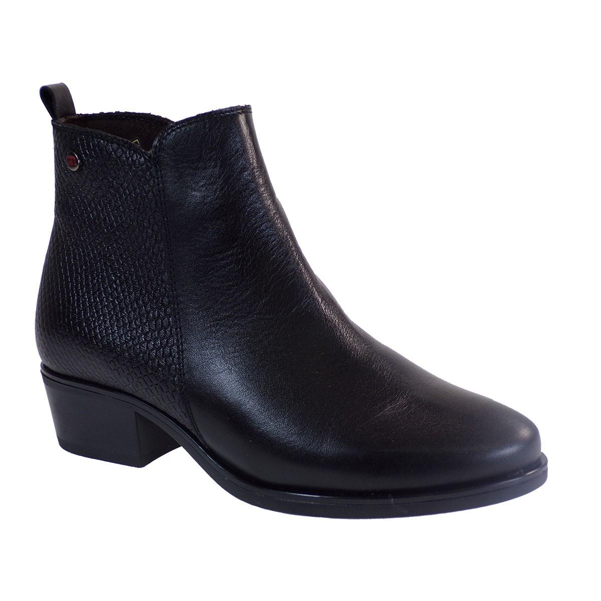 PEPE MENARGUES SHOES Γυναικεία Παπούτσια Μποτάκια 20400 Μαύρο Δέρμα