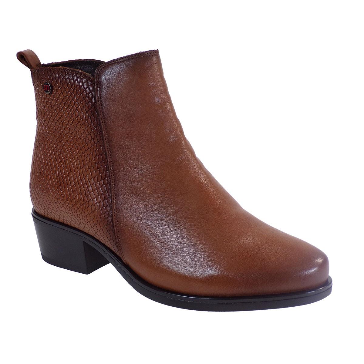 PEPE MENARGUES SHOES Γυναικεία Παπούτσια Μποτάκια 20400 Ταμπά Δέρμα