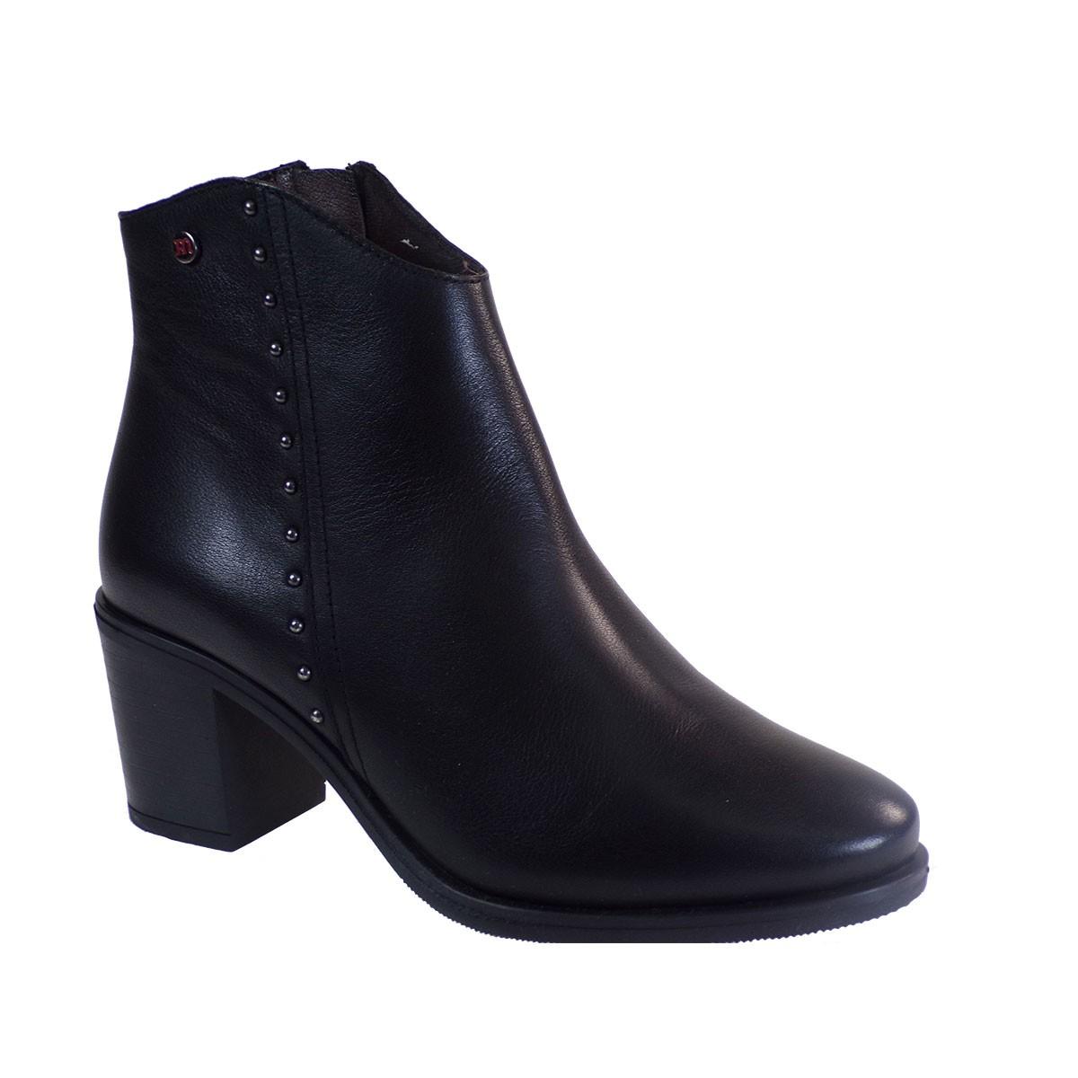 PEPE MENARGUES SHOES Γυναικεία Παπούτσια Μποτάκια 20423 Μαύρο Δέρμα