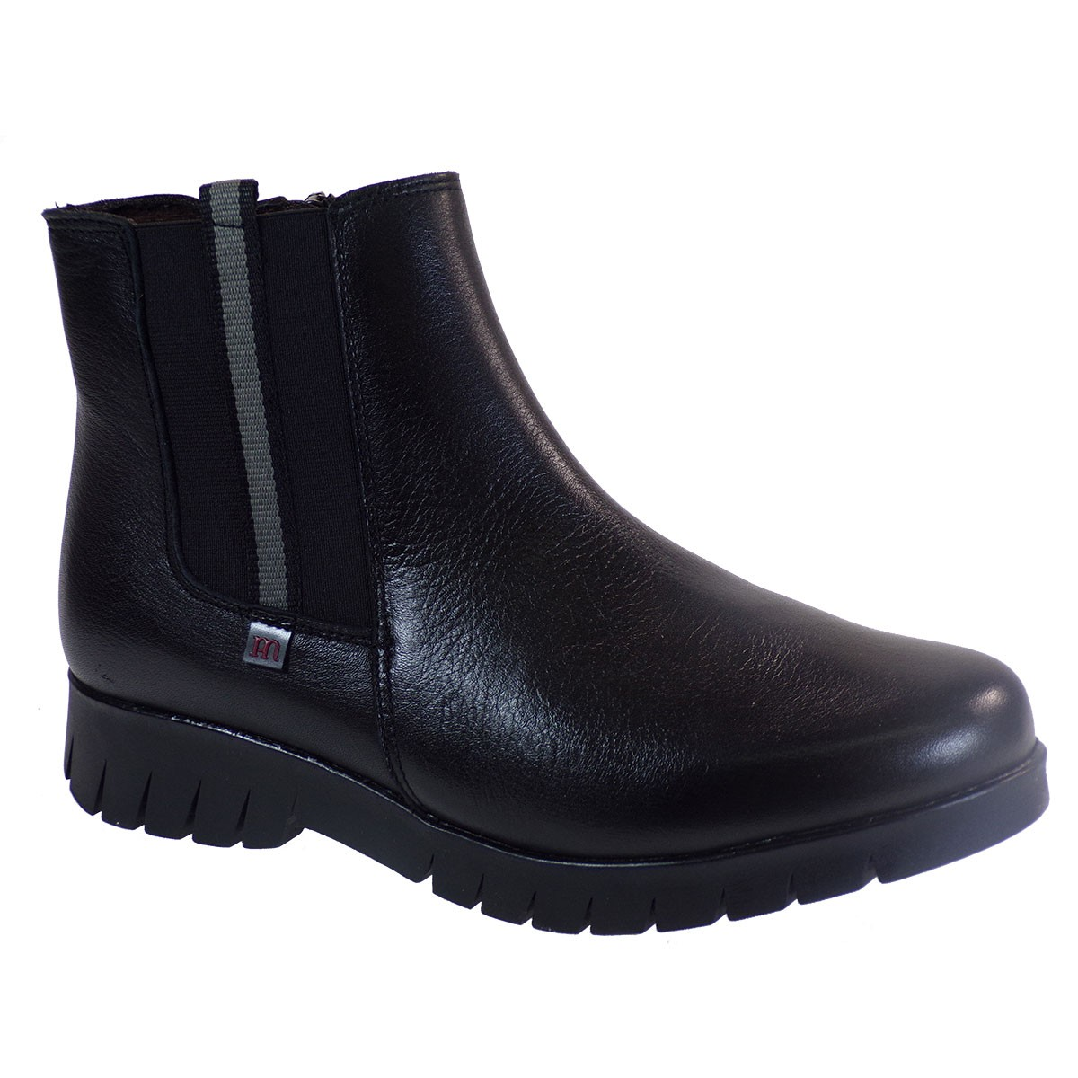 PEPE MENARGUES SHOES Γυναικεία Παπούτσια Μποτάκια 20022 Μαύρο Δέρμα