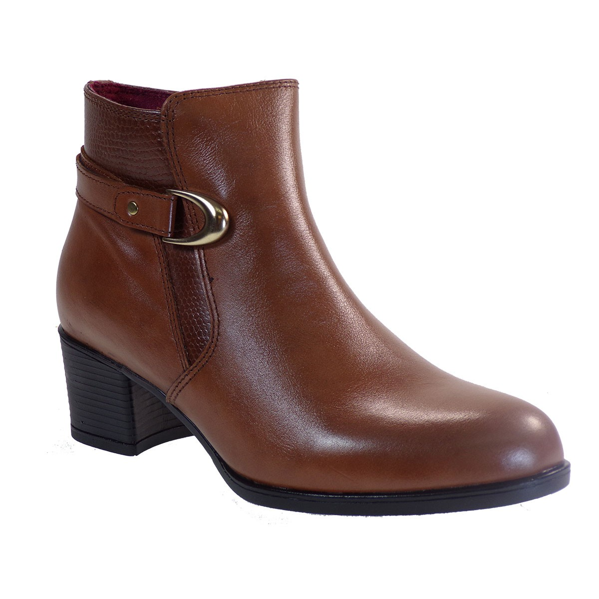 Softies Shoes Γυναικείες Μποτάκια 7231 Ταμπά Δέρμα