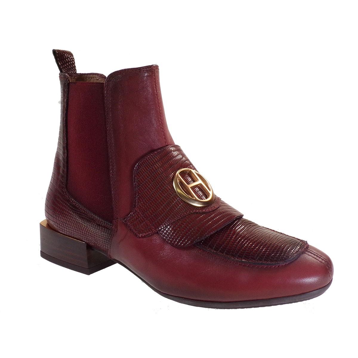 Hispanitas Γυναικεία Παπούτσια Mποτάκια HI00706 Μπορντώ Δέρμα