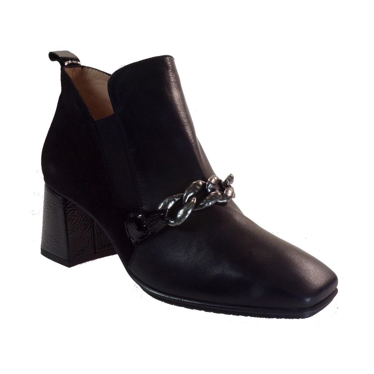Hispanitas Γυναικεία Παπούτσια Mποτάκια CHI00870 Μαύρο Δέρμα