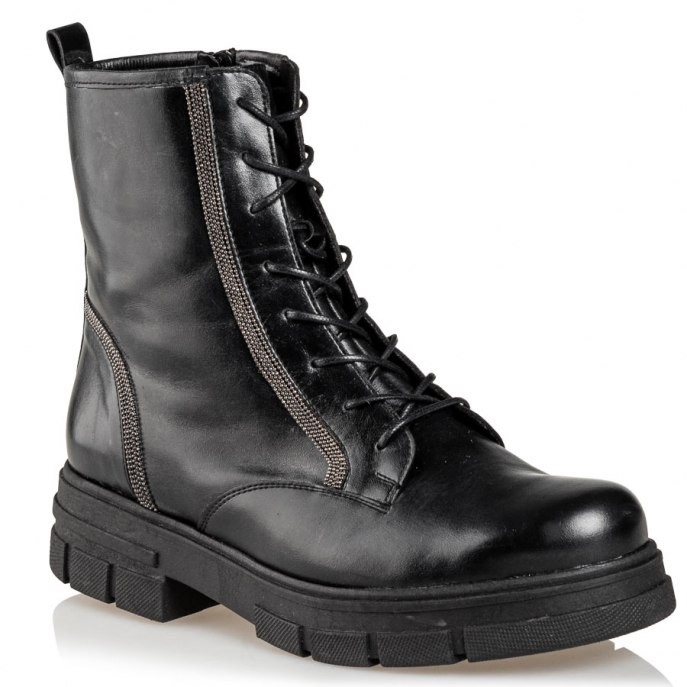 Mairiboo by Envie Shoes Γυναικεία Mποτάκια Αρβυλάκια M03-12540-34 Μαύρο SILVER LINING