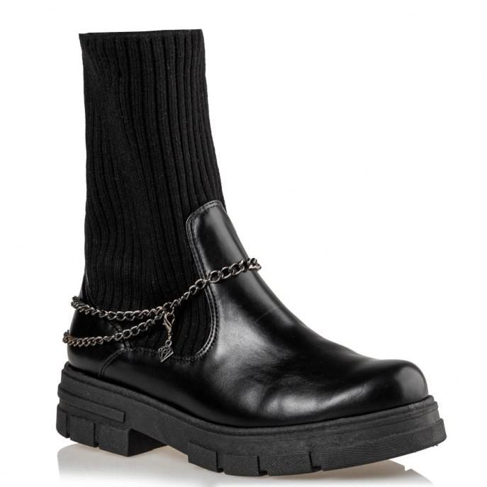 Mairiboo by Envie Shoes Γυναικεία Mποτάκια Αρβυλάκια M03-12542-34 Μαύρο UNCHAINED