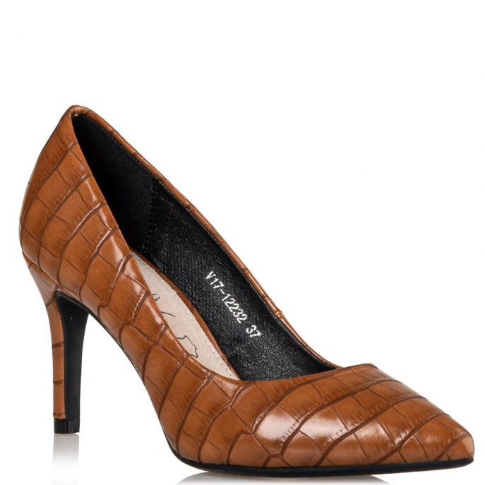 Miss NV Γυναικεία Παπούτσια Γόβα V17-12232-26 Κάμελ