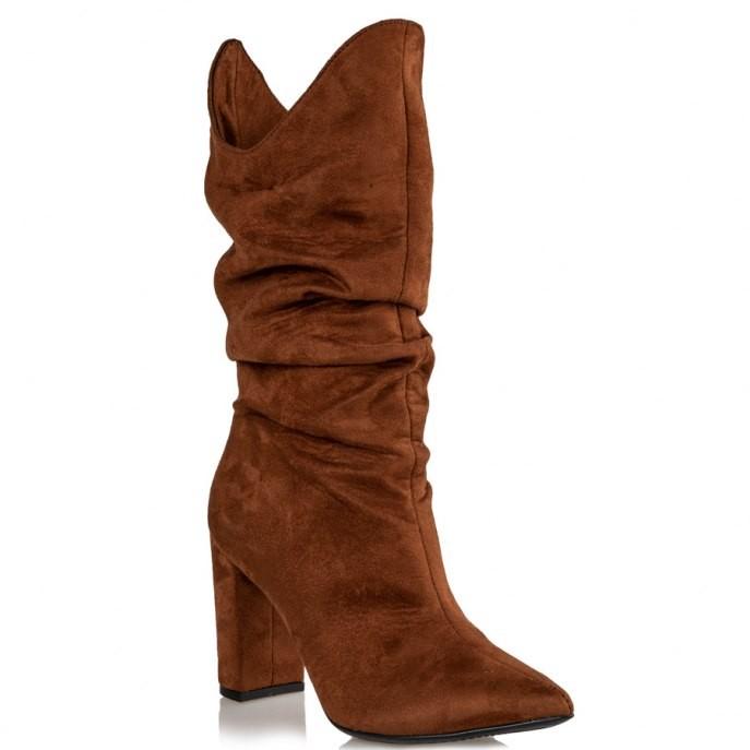 Mairiboo by Envie Shoes Γυναικεία Mπότα M03-12590-26 Κάμελ DONNA