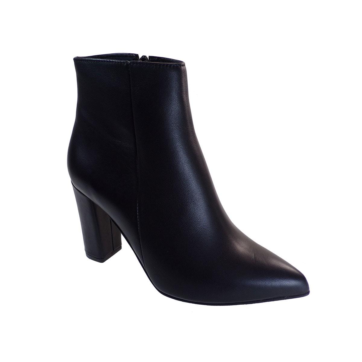 Moods Shoes Γυναικεία Μποτάκια 3579 Μαύρο Δέρμα