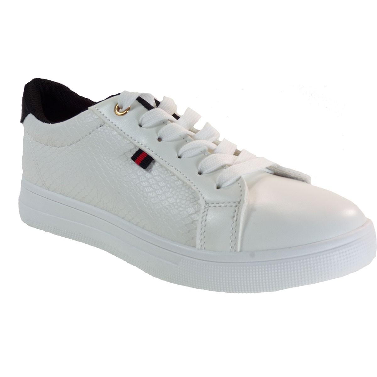 Bagiota Shoes Γυναικεία Παπούτσια Sneakers Αθλητικά BY-0352 Λευκό-Μαύρο