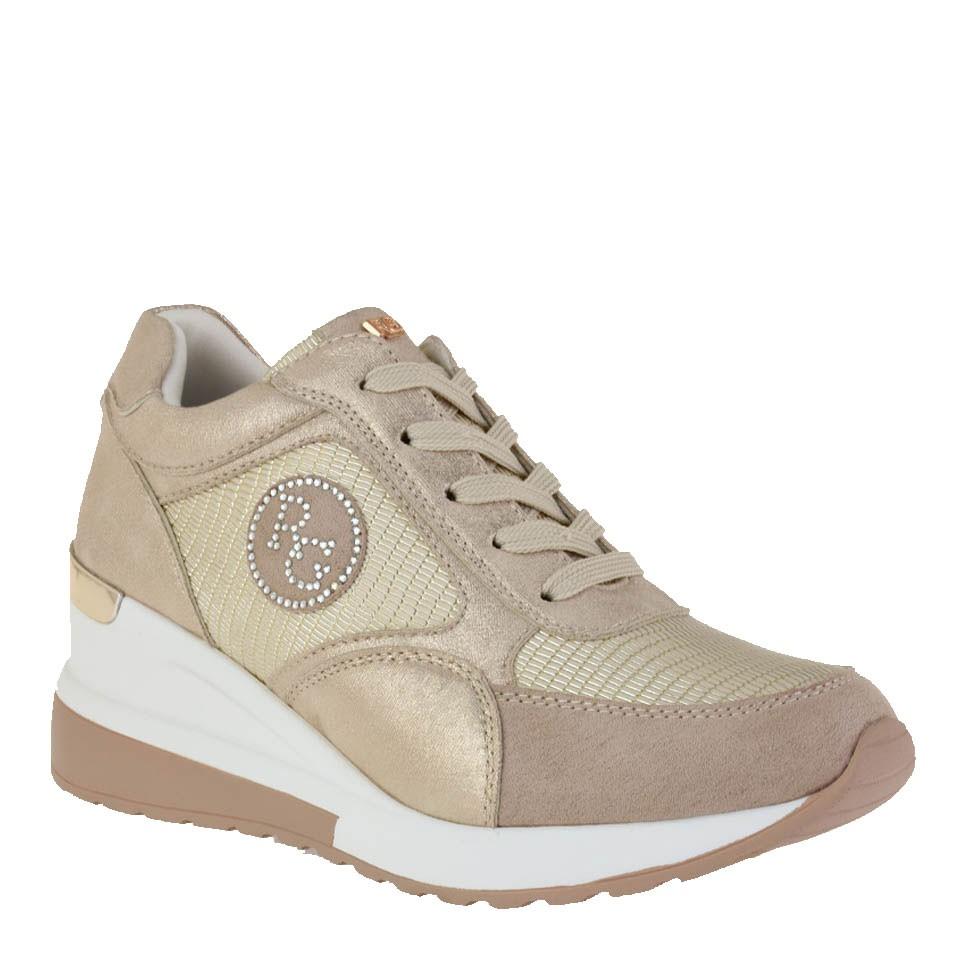 Renato Garini Γυναικεία Παπούτσια Sneakers 208-19R Πλατίνα Φίδι K119R2083J35