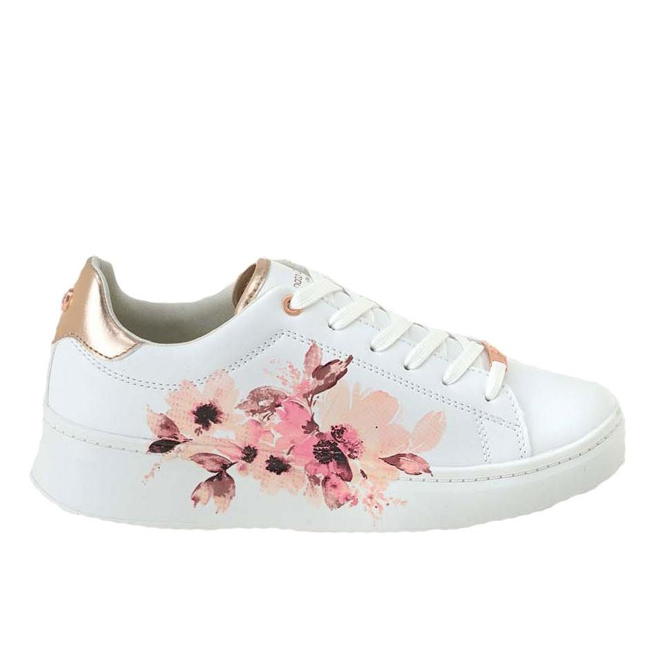Renato Garini Γυναικεία Παπούτσια Sneakers 219-19WC1219C Λευκό Λουλούδι M157Q2192S38