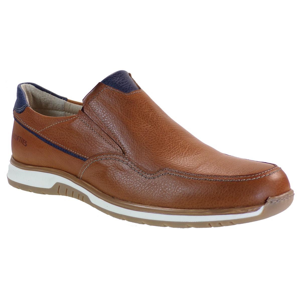 Softies Ανδρικά Παπούτσια 6111 Ταμπά Δέρμα