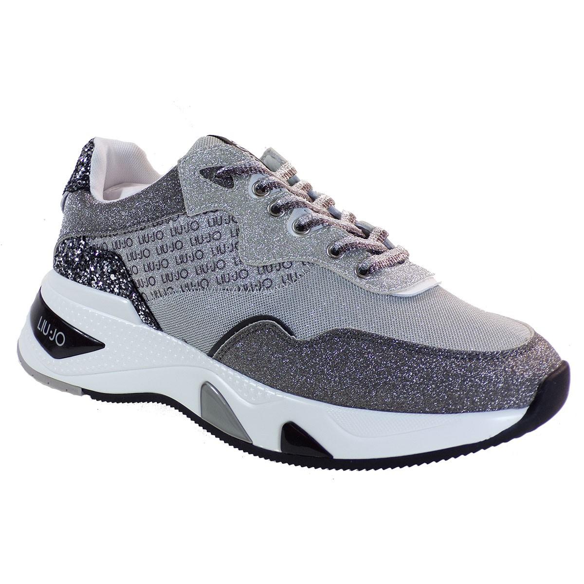 Liu-Jo Sneakers Παπούτσια Γυναικεία HOA-1 BΑ1037 Μαύρο-Ασημί Glitter