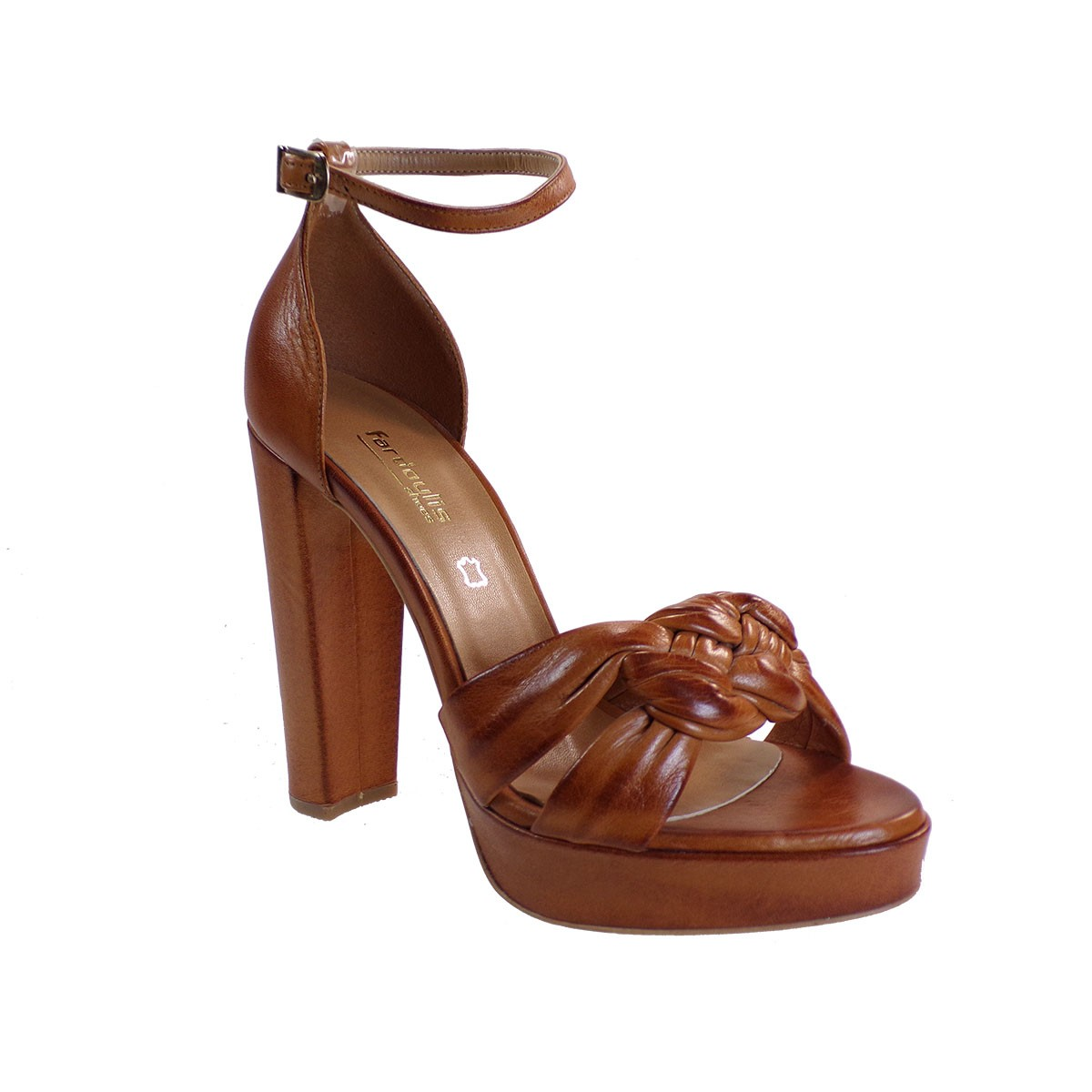 Fardoulis shoes Γυναικεία Παπούτσια Πέδιλα 916-04Χ Ταμπά Δέρμα