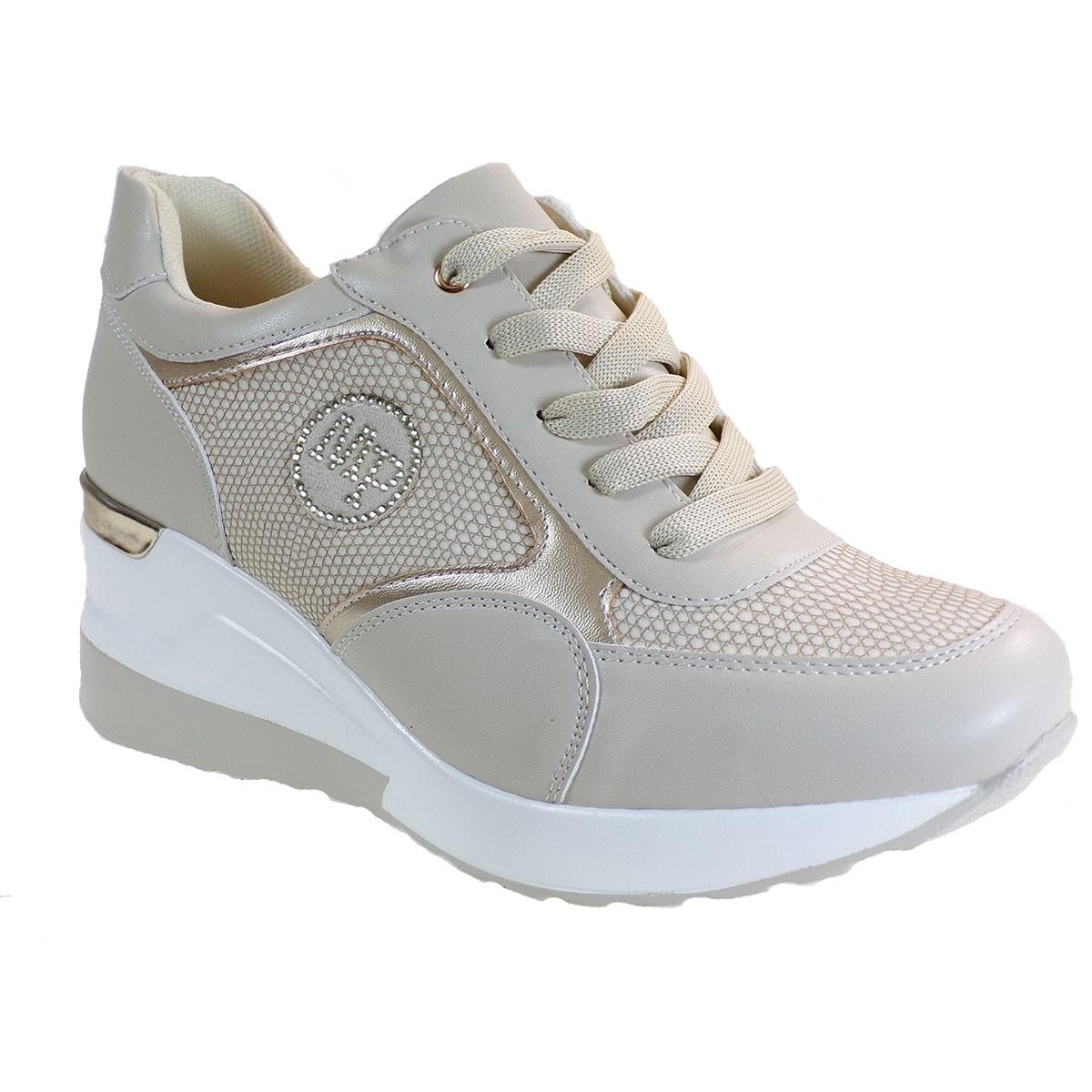 Bagiota Shoes Γυναικεία Παπούτσια Sneakers Αθλητικά H8987 Μπέζ