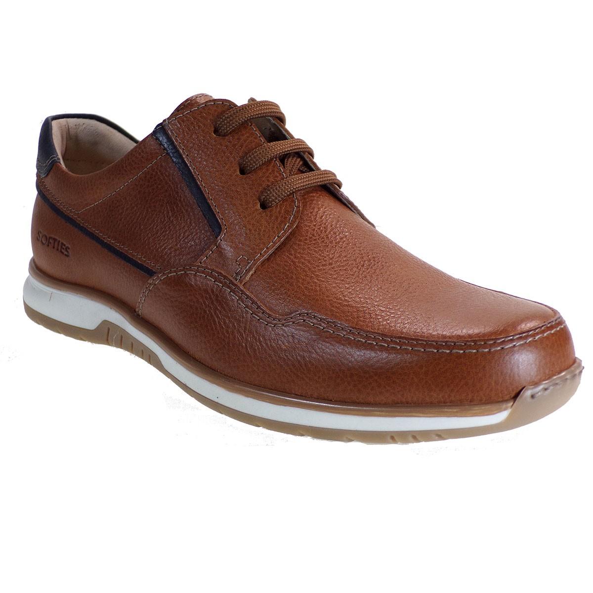Softies Ανδρικά Παπούτσια 6112 Ταμπά Δέρμα