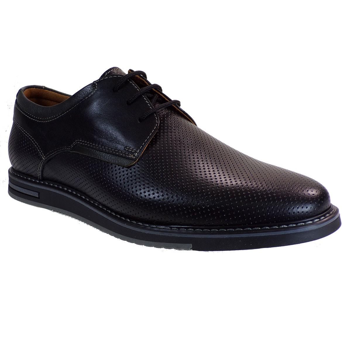 Softies Ανδρικά Παπούτσια 6148 Μαύρο Δέρμα