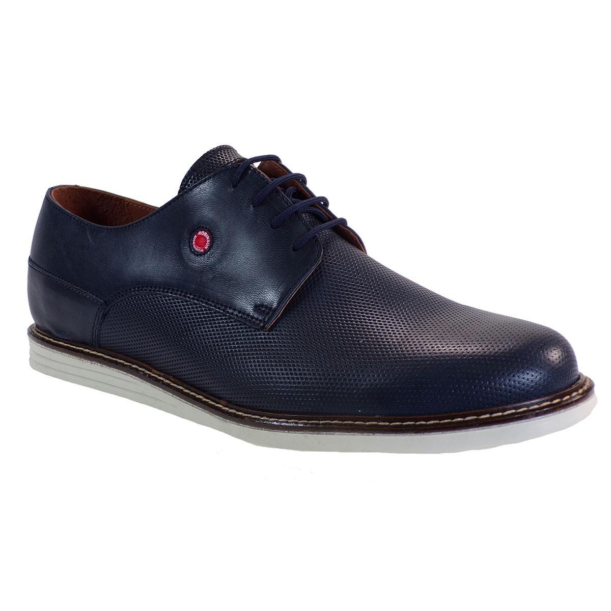 Robinson Ανδρικά Παπούτσια 1927 Mπλέ Δέρμα