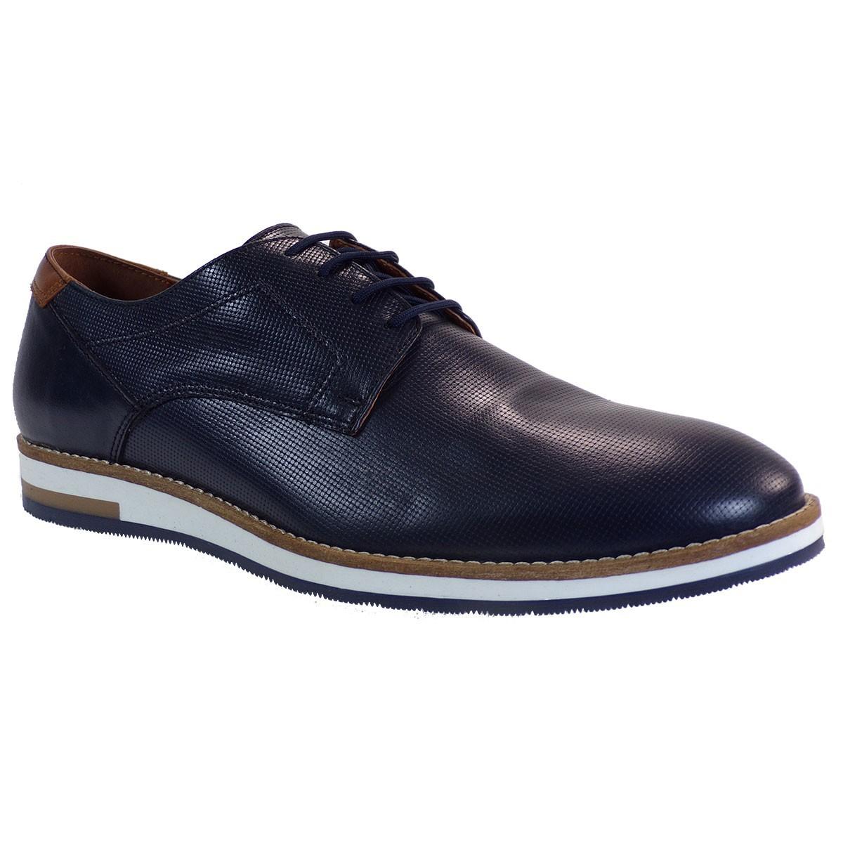 Robinson Ανδρικά Παπούτσια 2131 Mπλέ Δέρμα