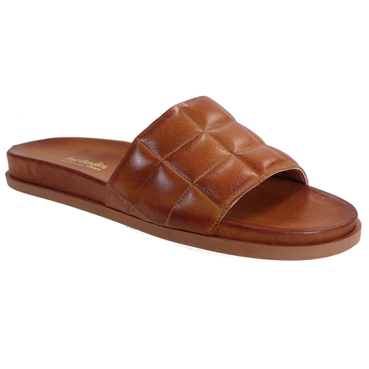 Fardoulis shoes Γυναικείες Παντόφλες 111-47 Ταμπά Δέρμα