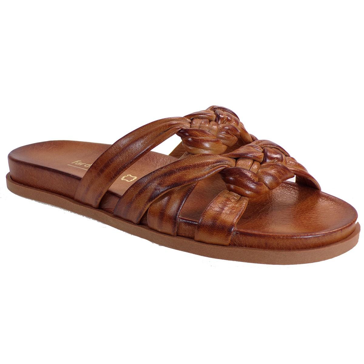 Fardoulis shoes Γυναικείες Παντόφλες 111-41 Ταμπά Δέρμα