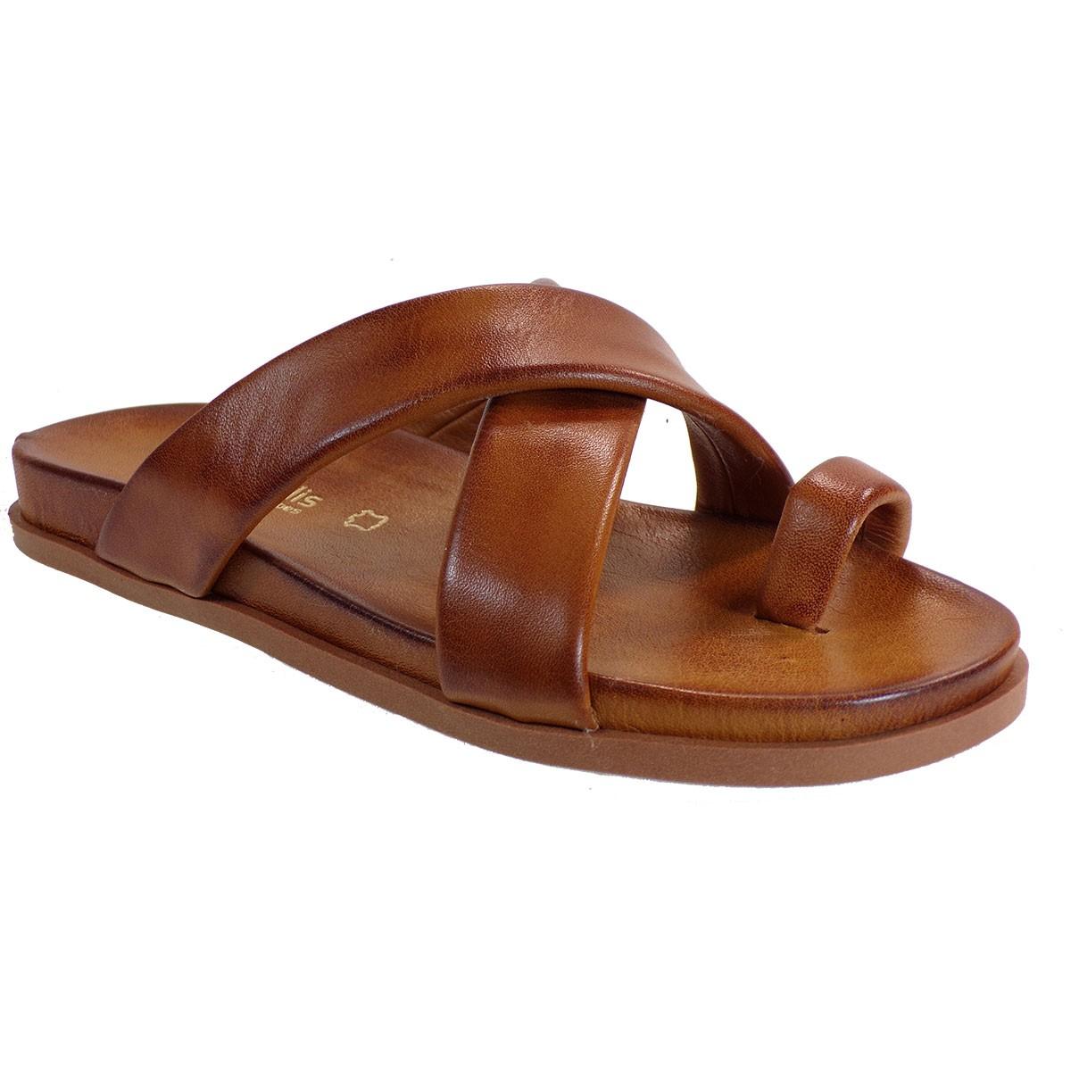Fardoulis shoes Γυναικείες Παντόφλες 111-51 Ταμπά Δέρμα