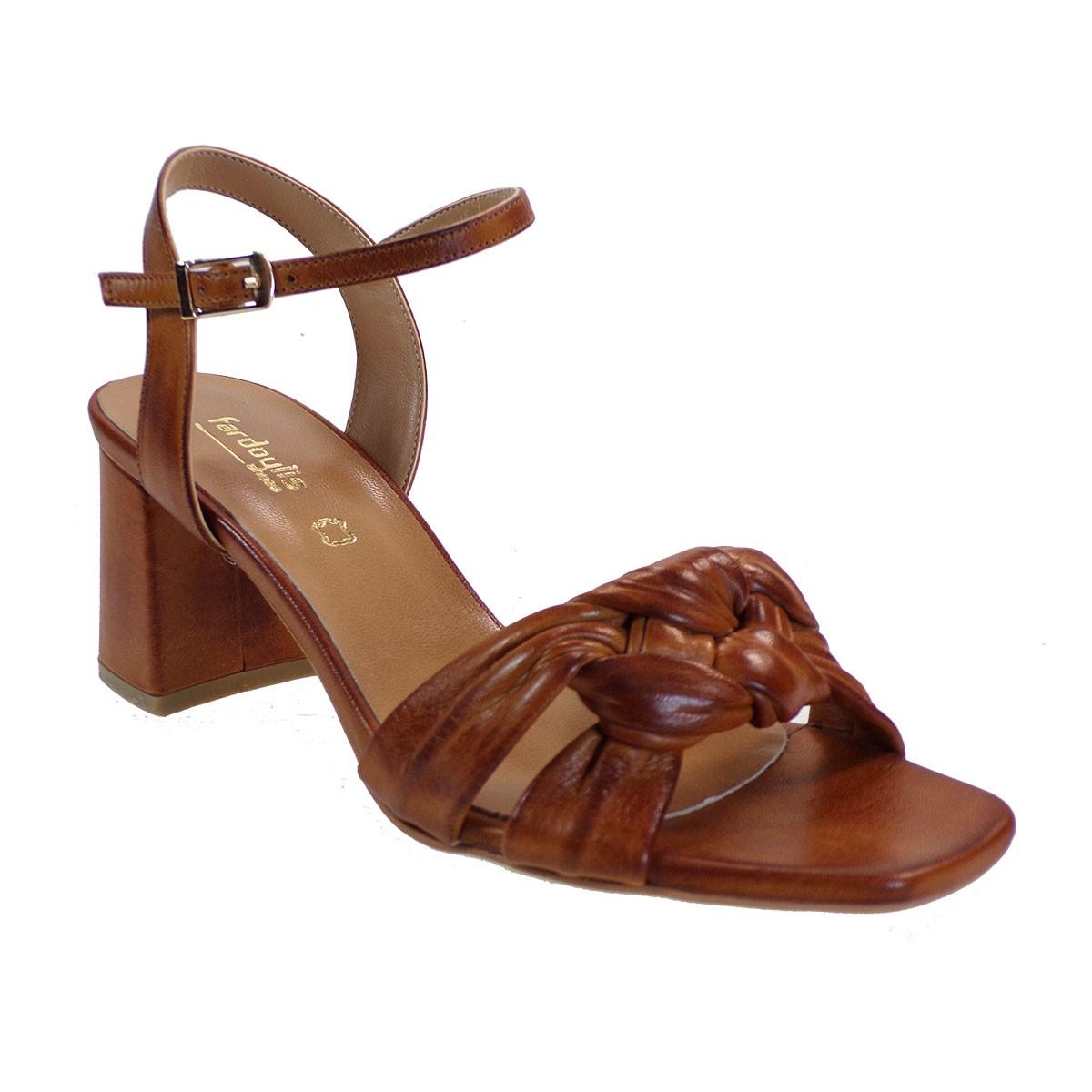 Fardoulis shoes Γυναικεία Παπούτσια Πέδιλα 609-40Χ Ταμπά Δέρμα