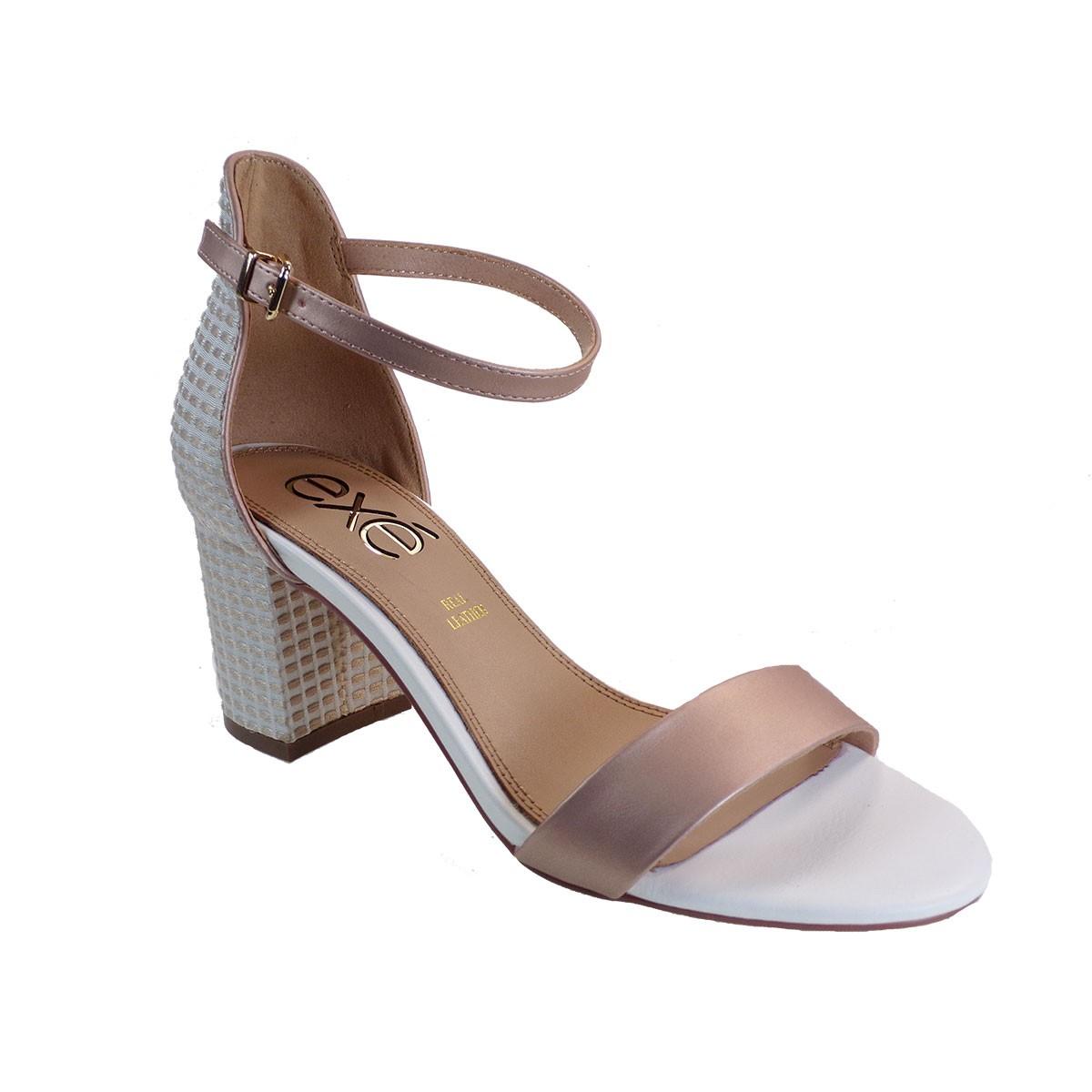EXE Shoes Πέδιλα Γυναικεία ADELE-353 Nude Μεταλλικό Λευκό M4700353401N