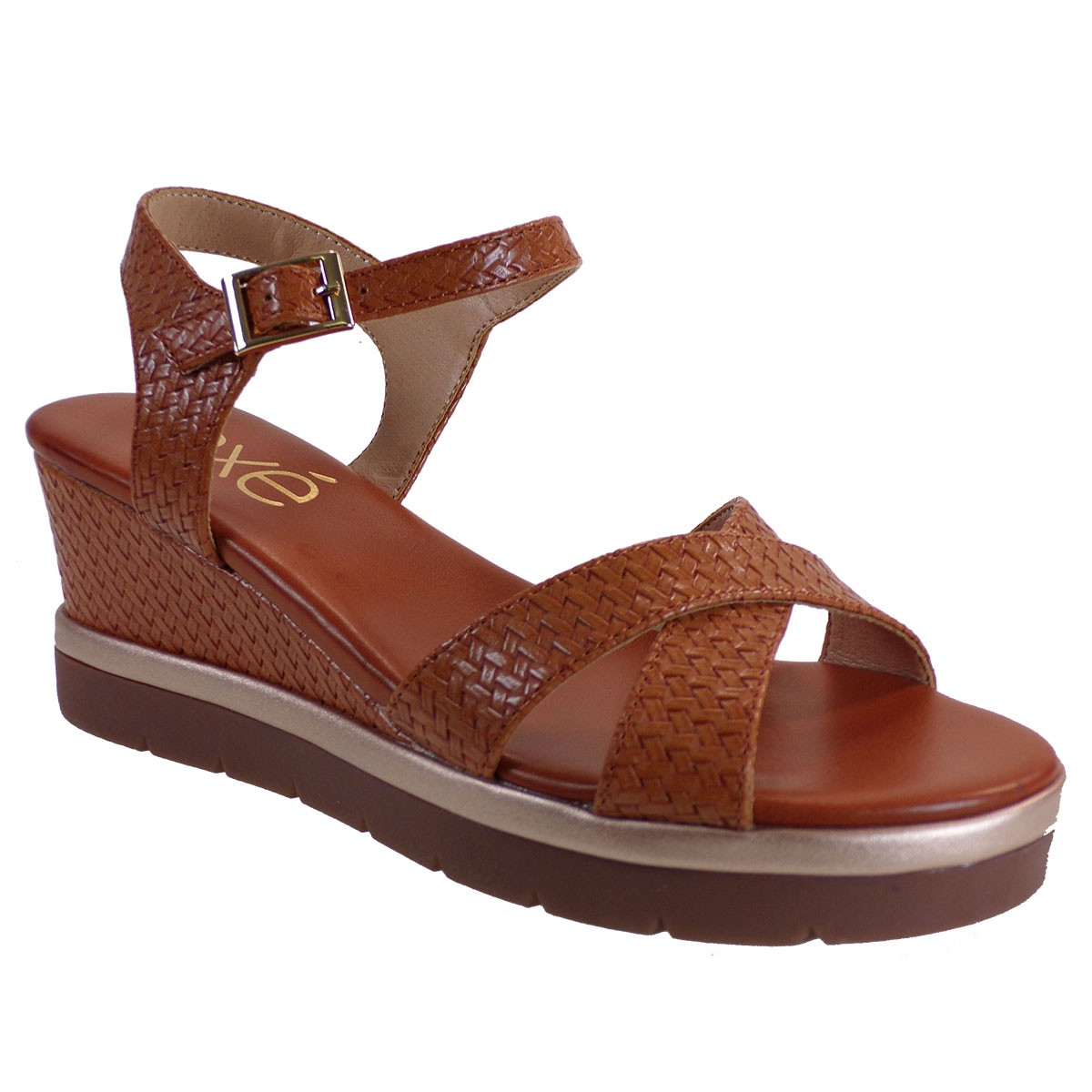 EXE Shoes Γυναικεία Πέδιλα Πλατφόρμες IPANEMA-920 Ταμπά Στάμπα M47009203U52