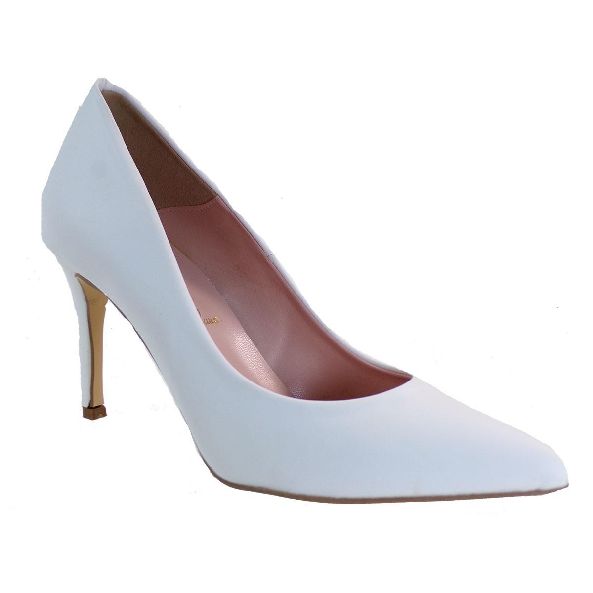Alessandra Paggioti Γυναικεία Παπούτσια Γόβες 81001 Λευκό Mατ