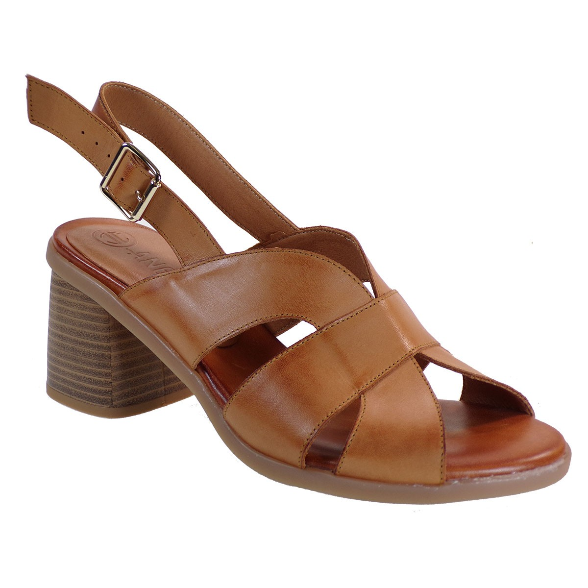 Katia Shoes Anneto Γυναικεία Πέδιλα Κ30-3722 Ταμπά Δέρμα