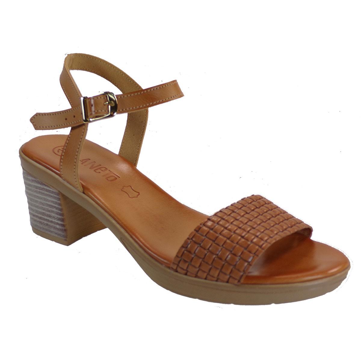 Katia Shoes Anneto Γυναικεία Πέδιλα 46-115 Καφέ Δέρμα