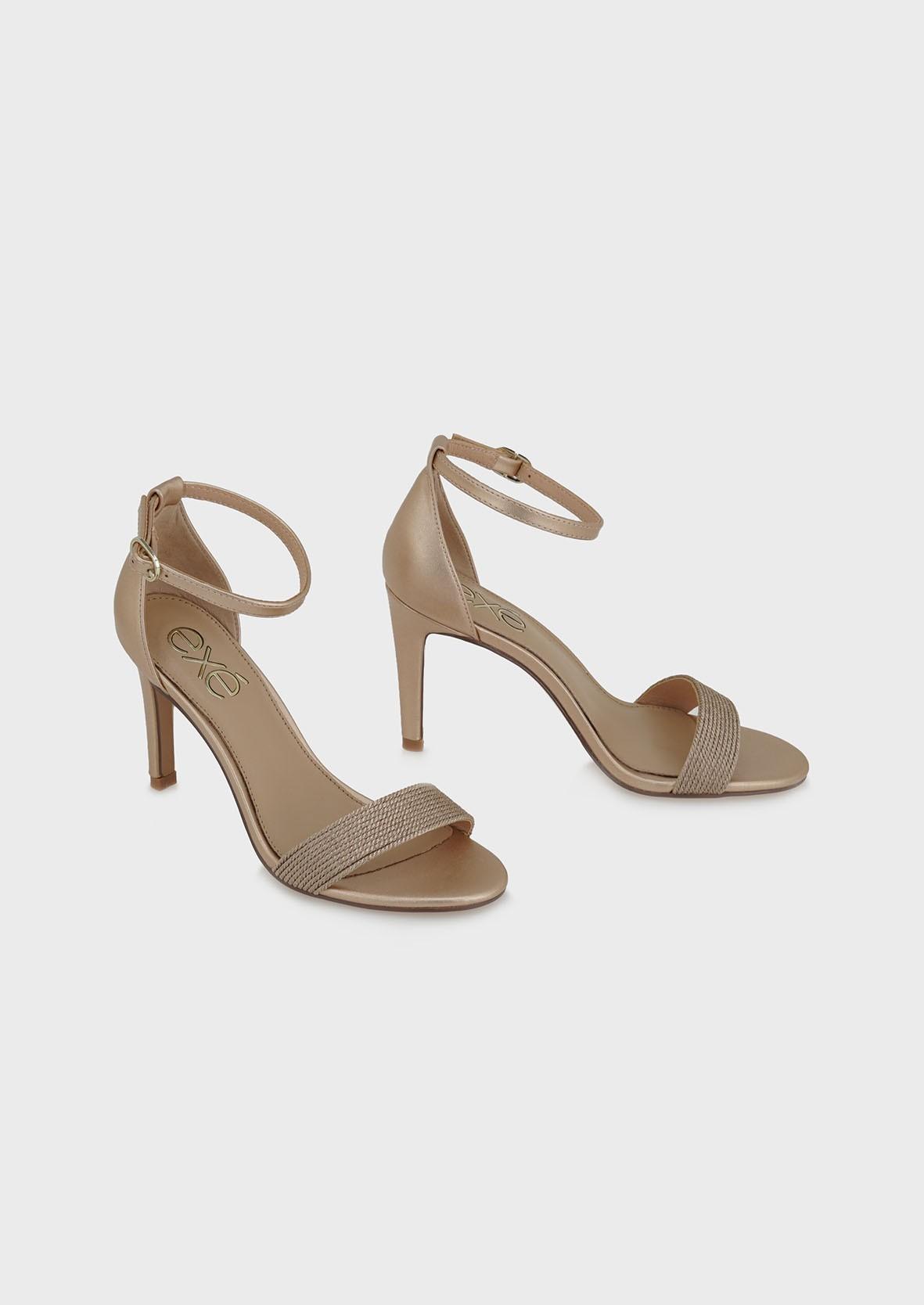 EXE Shoes Πέδιλα Γυναικεία REBECA-303 Ροζ Χρυσό M4700303519N