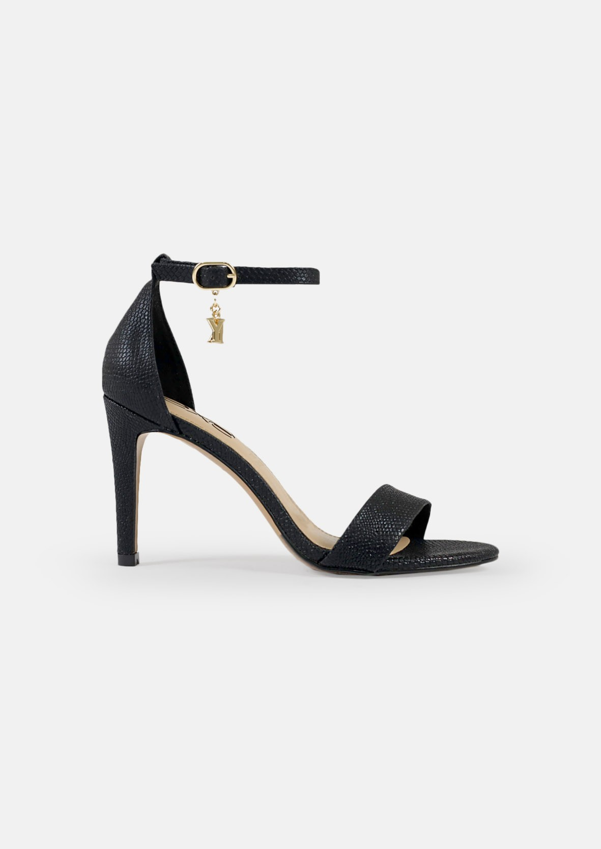 EXE Shoes Πέδιλα Γυναικεία REBECA-931 Μαύρο Φίδι M47009315006