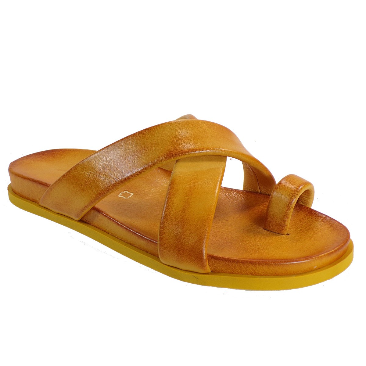 Fardoulis shoes Γυναικείες Παντόφλες 111-51 Κίτρινο Δέρμα
