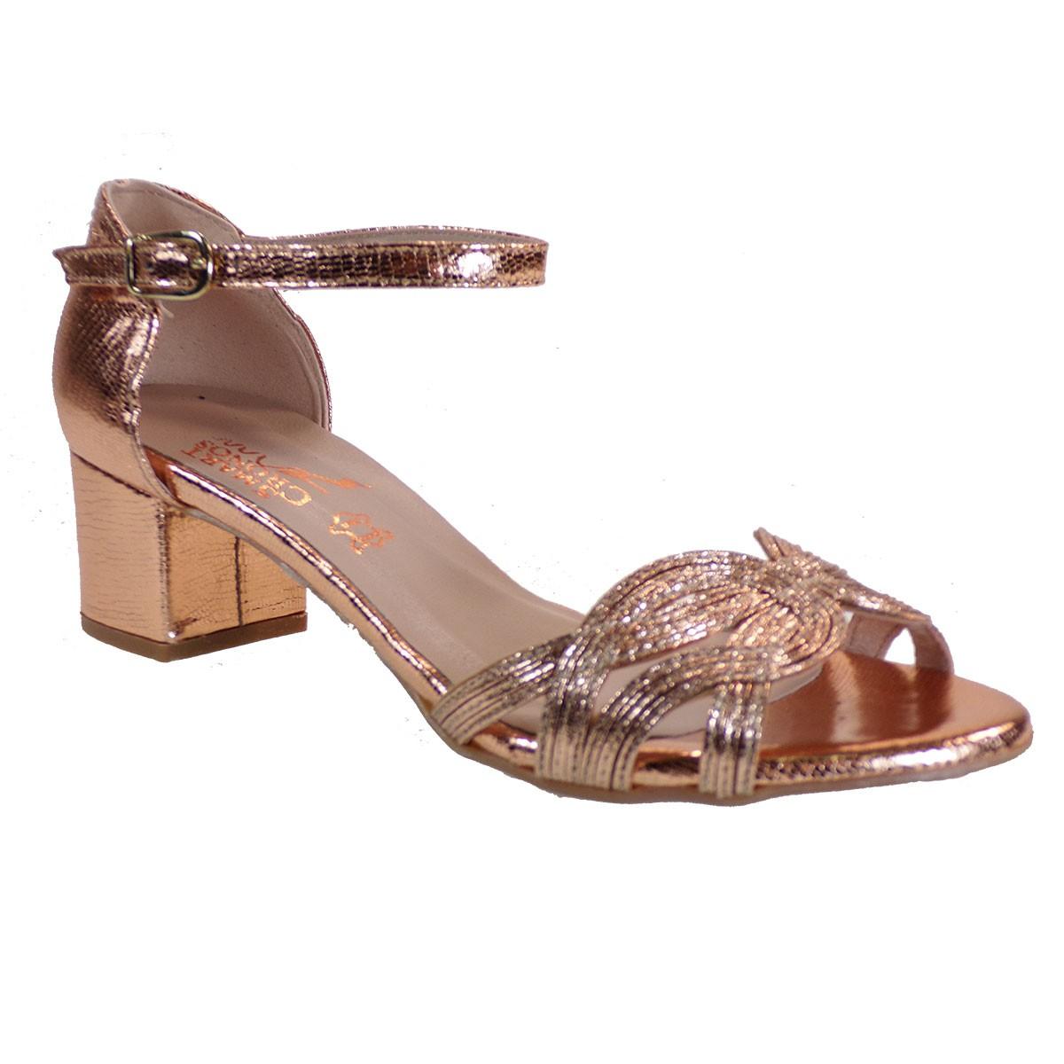 Smart Cronos Γυναικεία Παπούτσια Πέδιλα 7291-3511 Χαλκός