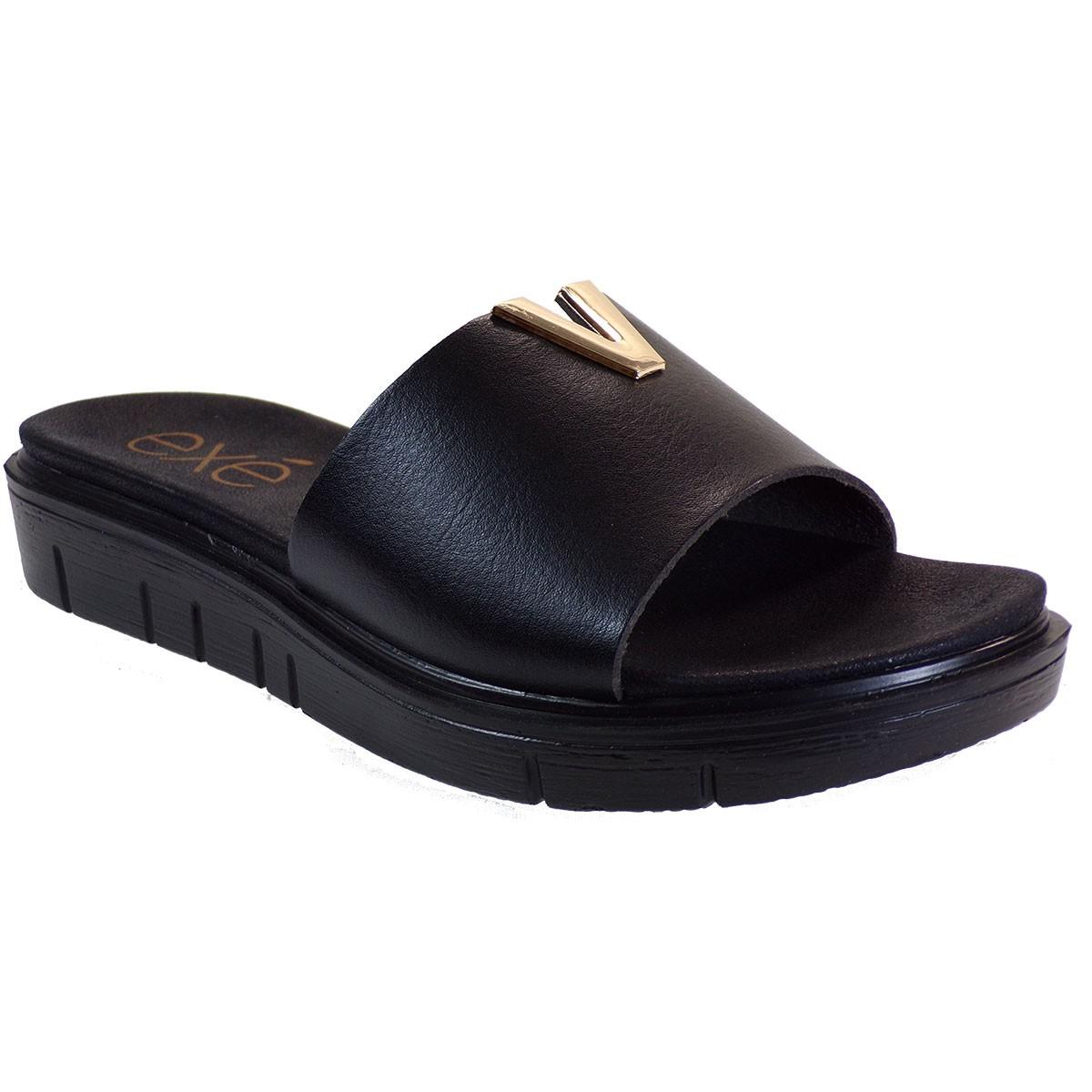 EXE Shoes Γυναικεία Παντόφλας 364-BZD86936 Μαύρο M489Q364200105
