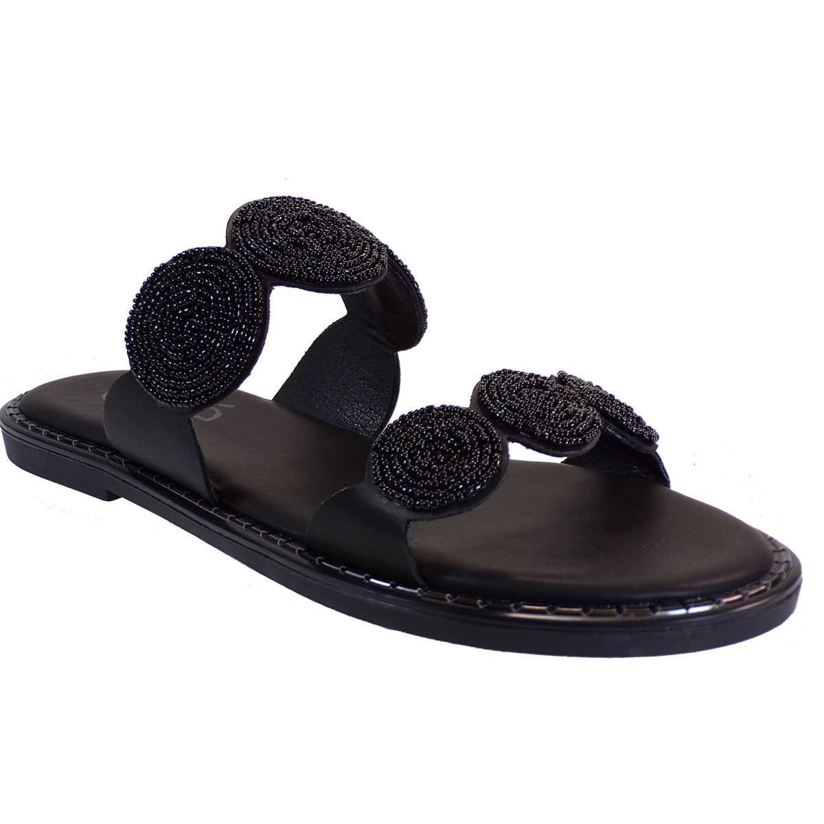 EXE Shoes Γυναικεία Παντόφλας ALLISON-112 Μαύρο M47001121001