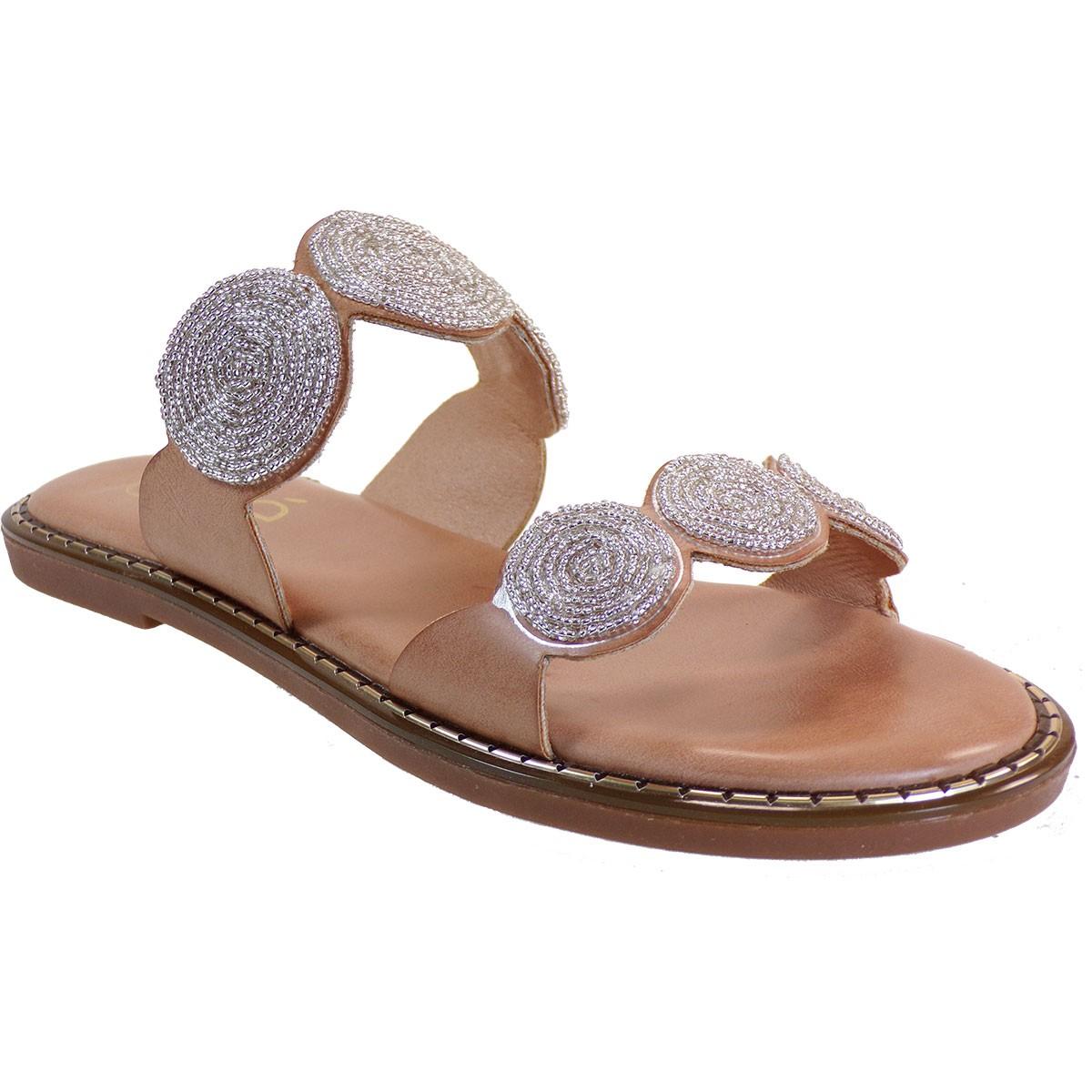 EXE Shoes Γυναικεία Παντόφλας ALLISON-112 Καμηλό M47001121417