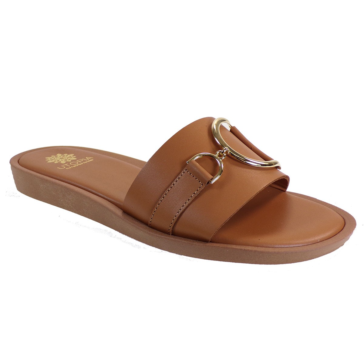 UTOPIA Γυναικεία Παπούτσια Παντόφλες U3-001 Ταμπά Δέρμα