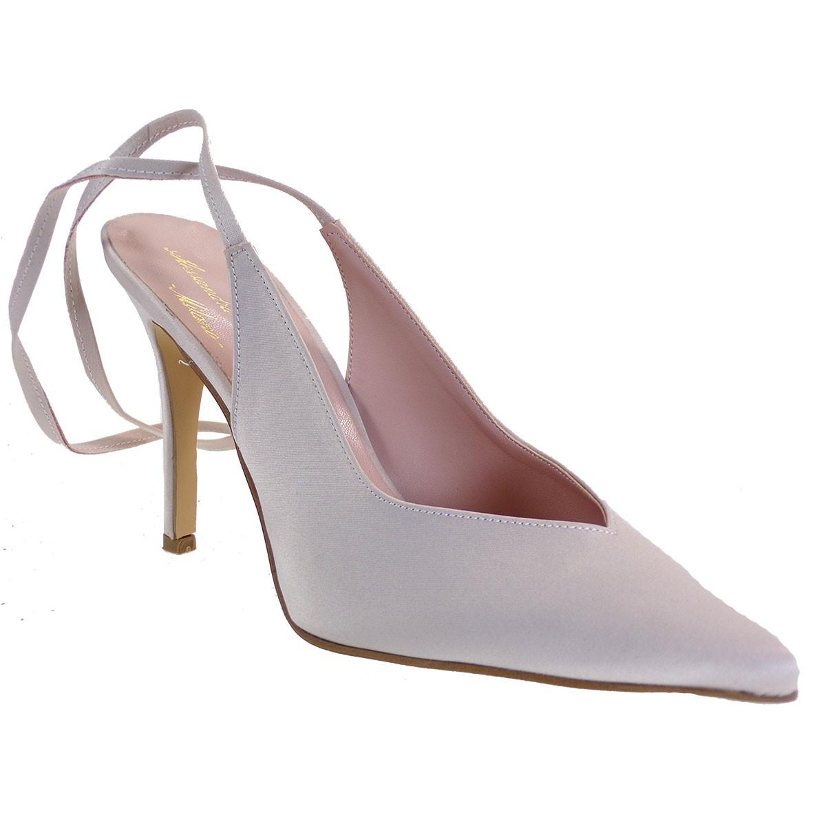 Alessandra Paggioti Γυναικεία Παπούτσια Γόβες 89685 Nude Σατέν