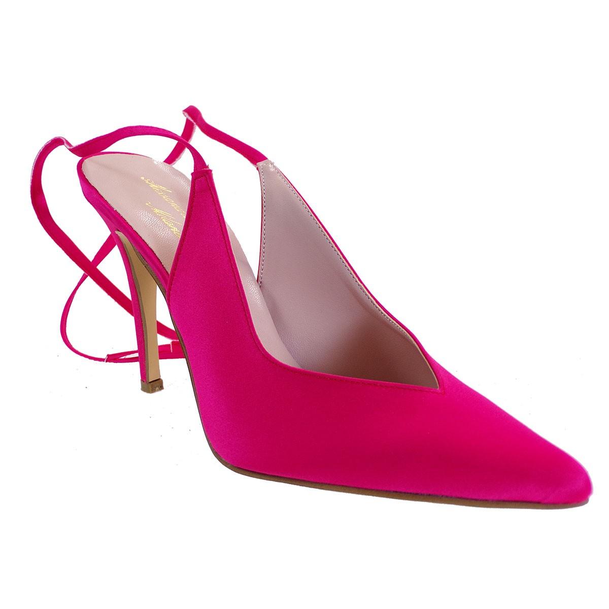 Alessandra Paggioti Γυναικεία Παπούτσια Γόβες 89685 Φούξια Σατέν