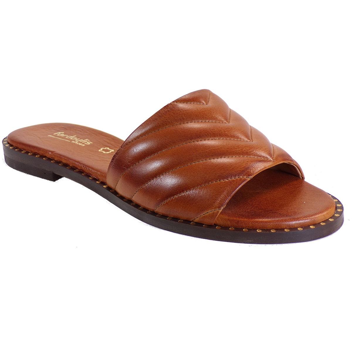 Fardoulis shoes Γυναικείες Παντόφλες 115-74 Ταμπά Δέρμα
