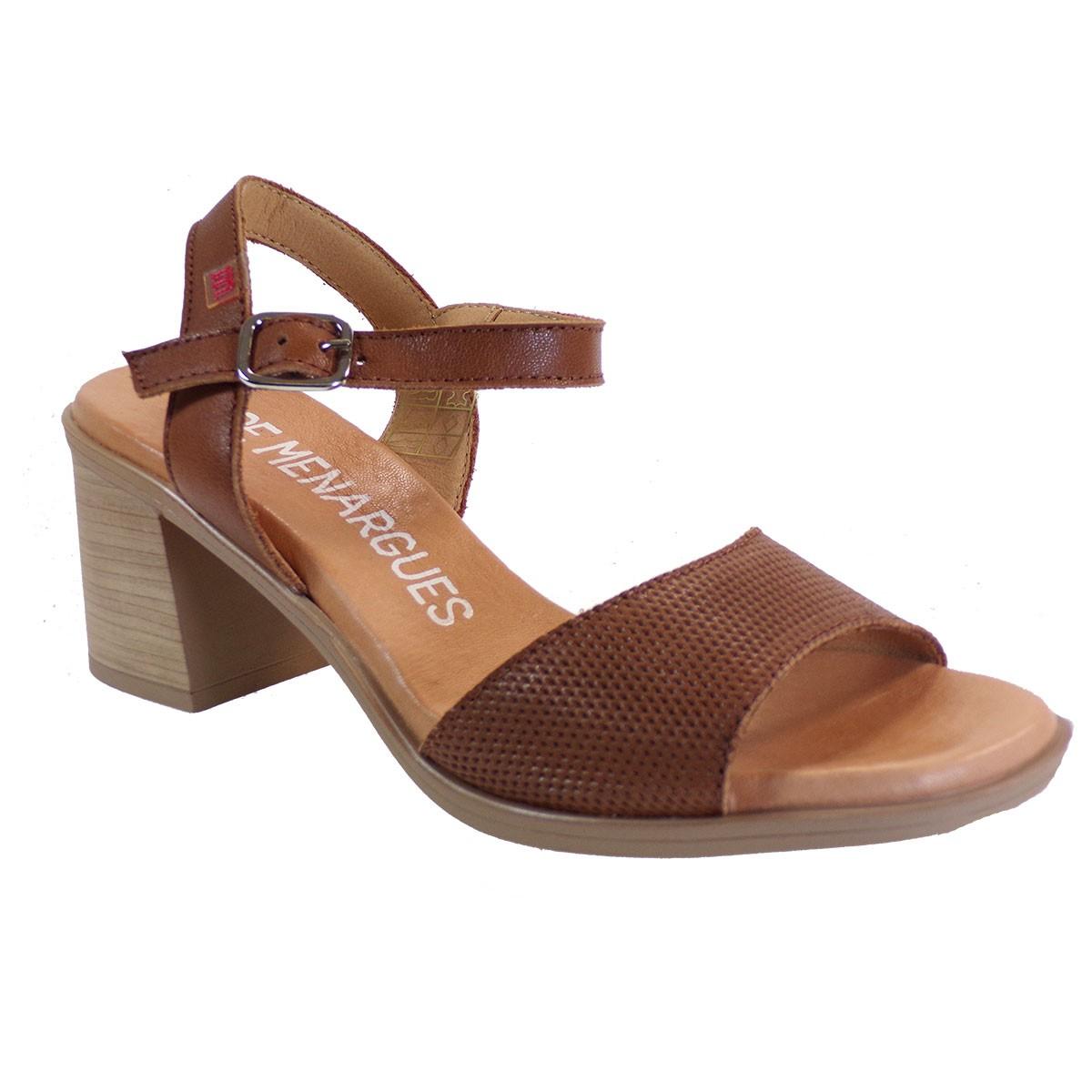 PEPE MENARGUES SHOES Γυναικεία Παπούτσια Πέδιλα 10425 Ταμπά Δέρμα