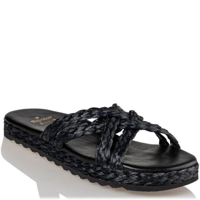 Mairiboo by Envie Shoes Γυναικεία Πέδιλα M03-13886-34 Μαύρο ΨΑΘΑΚΙΑ